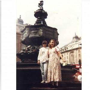 Linda y yo en Picadilly 1993