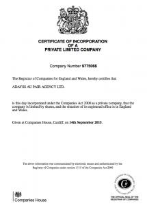 certificate england