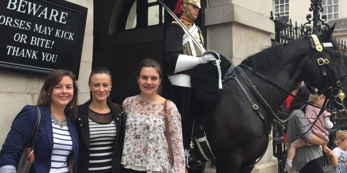 Visit, meeting and lunch with our Au pairs in London.